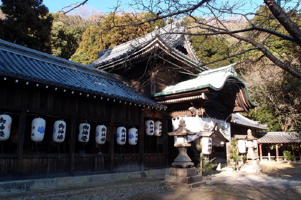 1746年の再建の拝殿(大避神社)