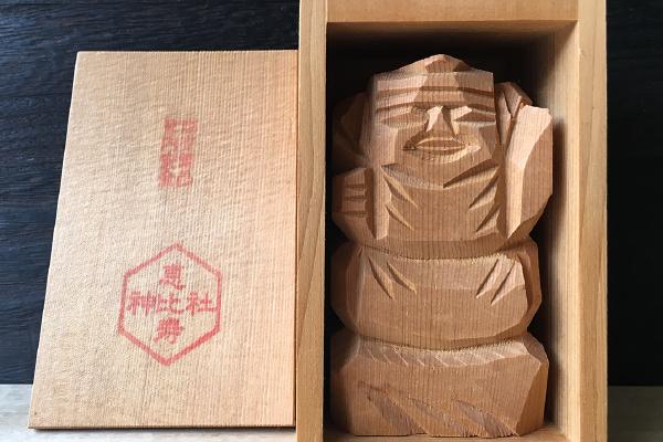 恵比寿様の一刀彫り(恵比寿神社)