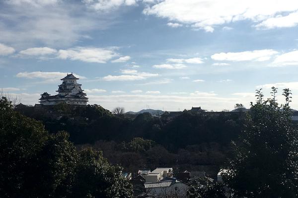 男山から望む姫路城(千姫天満宮、男山八幡宮)